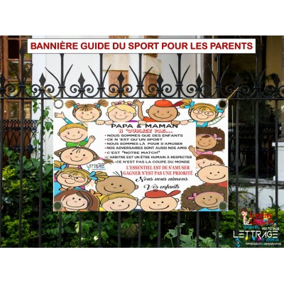 bannière guide des parents au sport