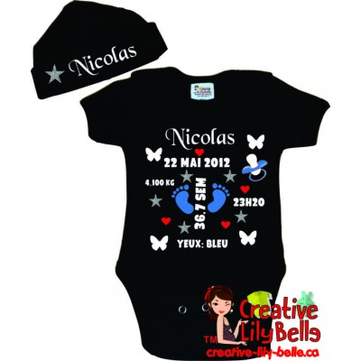 BABY BODYSUIT 3133 CUSTOMISE BIRTH with BABYCAP