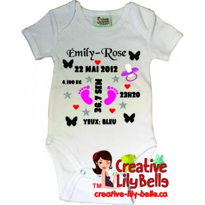 BABY BODYSUIT 3133 CUSTOMISE BIRTH
