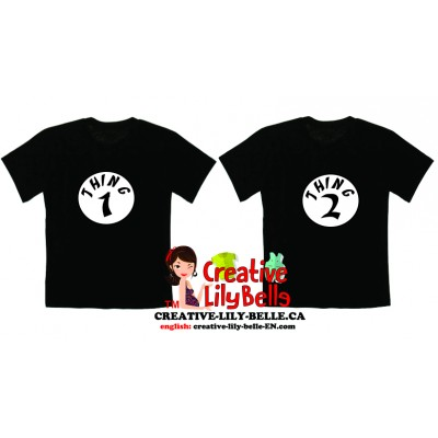 2 T-SHIRTS THING ONE THING TWO CC3272