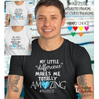 T-SHIRT MY LITTLE DIFFERENCE MAKES ME AMAZING TS4523-DIFFERENCE AMAZING