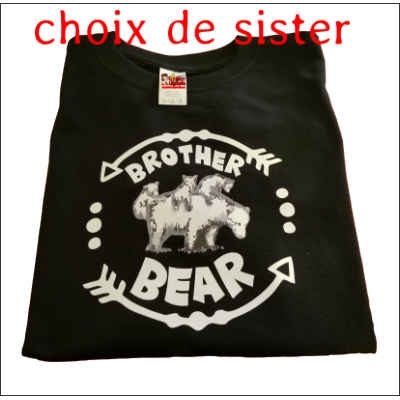 t-shirt  bear brother sister 3441