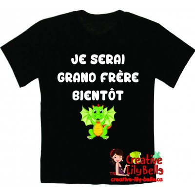 t-shirt futur grand frère dragon 3191