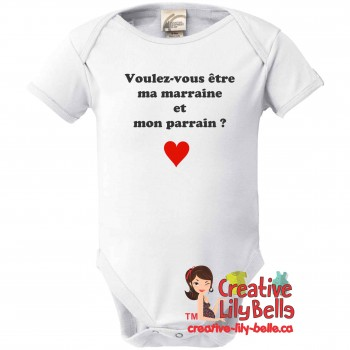 BABY BODY SUIT PARRAIN MARRAINE