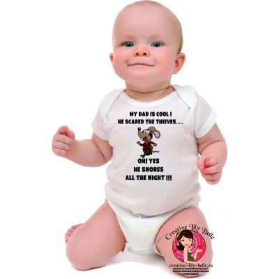 BABY BODYSUIT ENGLISH COOL DAD 3140