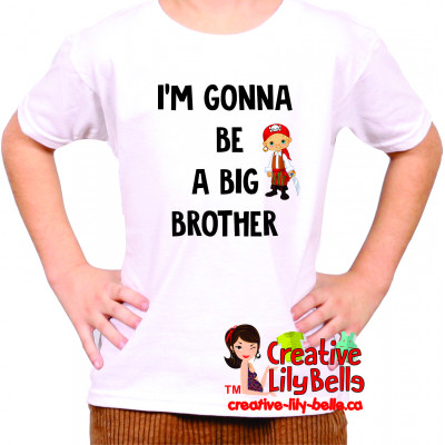 big brother t-shirt or baby bodysuit english 3199