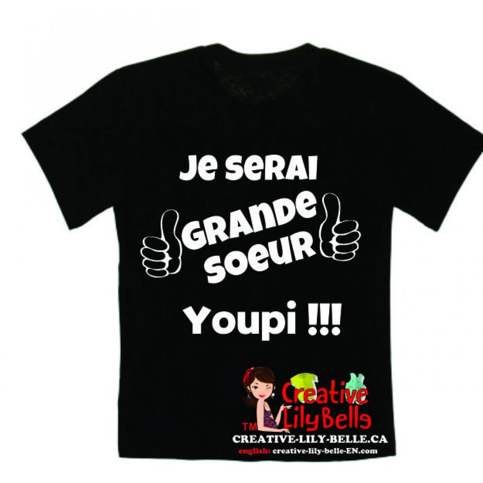 T Shirt Future Grande Soeur Cache Couche Future Grande Soeur 3277