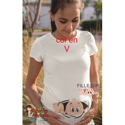 MATERNITY SHIRT PEEK A BOO GO OUT 244