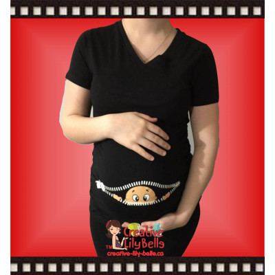 FUNNY MATERNITY SHIRT model p GIRL @CM1