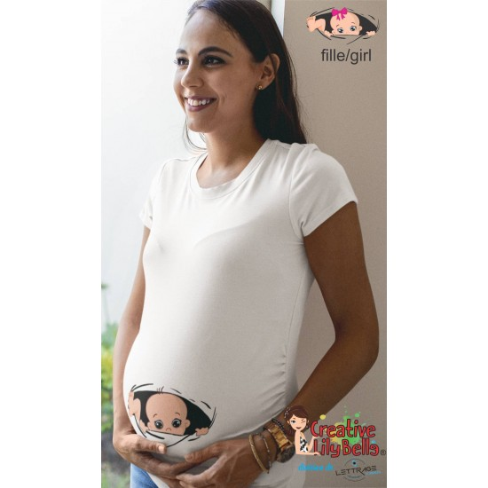 MATERNITY SHIRT PEEK A BOO GO OUT 358