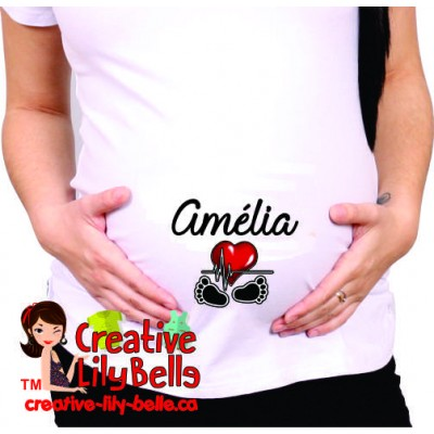 maternity shirt (choose baby name) 333