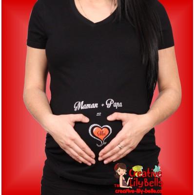 Yying Maternit/é T-Shirts No/ël V/êtements Grossesse Enceinte /À Manches Courtes Dr/ôle Femmes Enceintes V/êtements De Maternit/é Tees Tops