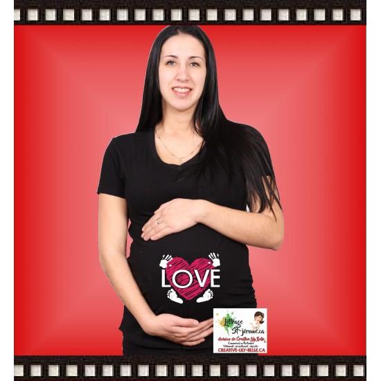 a- chandail de maternité LOVE 347