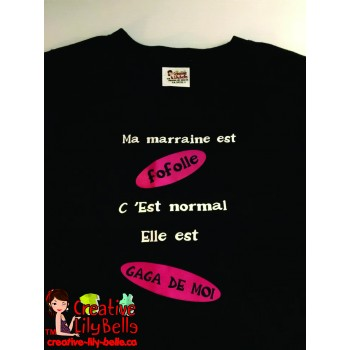 LOT#24 T-SHIRT NOIR 5 ANS GAGA MARRAINE
