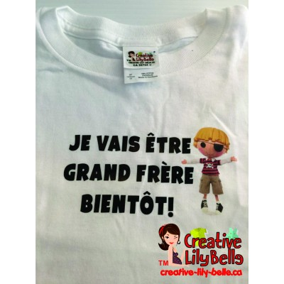 LOT#35 T-SHIRT GRAND FRERE BLANC