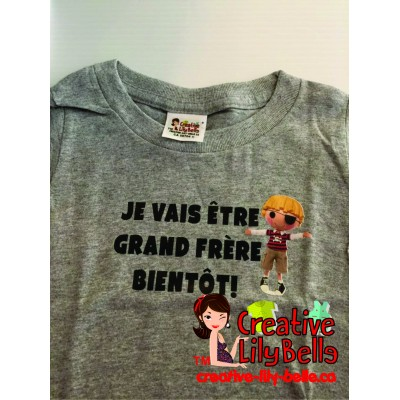 LOT#36 T-SHIRT GRAND FRERE PIRATE GRIS  (to be translated)