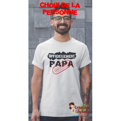 t-shirt officiellement papa, parrain,MAMIE,,papy,MARRAINE  etc 4113
