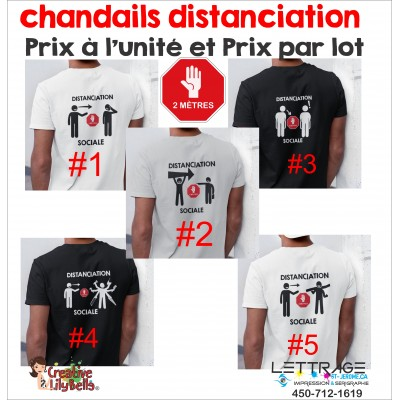 T-SHIRT DISTANCIATION 4453