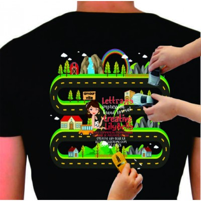 t-shirt Map piste de course 4219