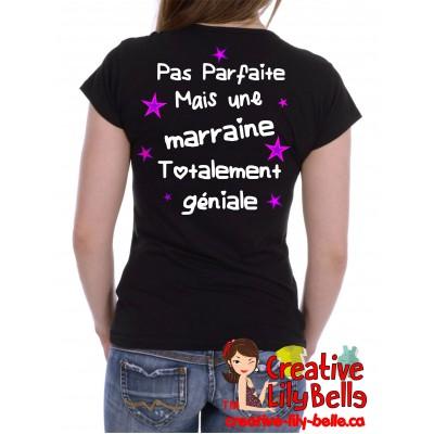 t-shirt pas parfaite géniale marraine, mamie, grand-maman !!! 4108