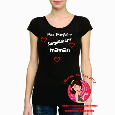T-SHIRT SIMPLEMENT MAMAN OU MARRAINE COEUR.... 4065