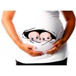 chandail de maternité jumeaux OU JUMELLES trou