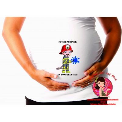 chandail de maternité pompier cm205